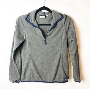 L.L Bean Grey 3/4 ZIP Pullover